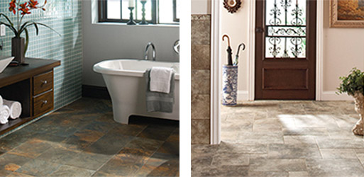 Complete your next project with tile & stone from Simmons Floor Covering and turn your flooring into a work of art!