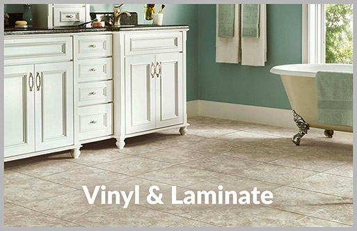 Simmons Floor Covering has a huge selection of laminate & vinyl available.  Stop by today!