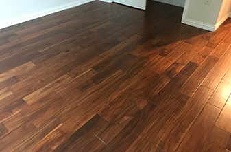 Bella Cera Engineered Wood - Style: Venice hand carved Acacia - Color: Messina - Location: Denton, Texas 76207