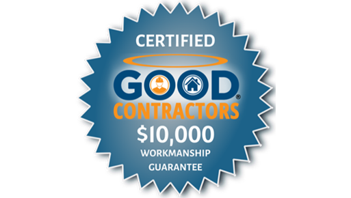 Simmons Floor Covering is a certified with the Good Contractors $10,000 Workmanship Guarantee