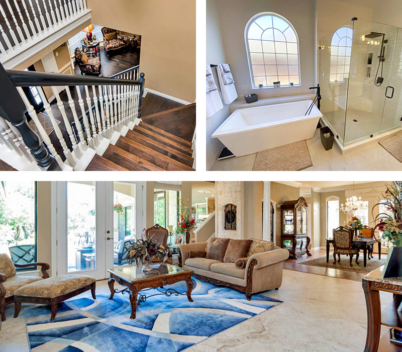 Simmons Floor Covering Custom Projects Collage